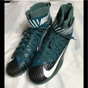 Nike LunarBeast Elite Football Cleats Green sz 15